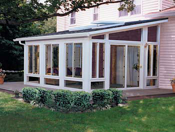 Sunrooms patio enclosures no maintenance m p for Backyard sunroom